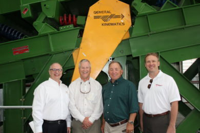 ribbon cutting for new GK recycling equipment